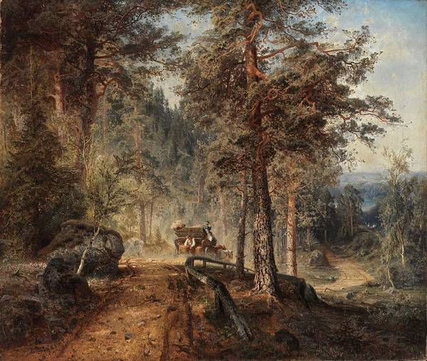 Wall Art - Painting -  A Hot Summer Day  Gustaf Werner Holmberg by Celestial Images