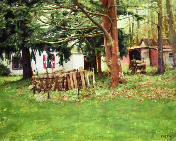 Painting - A House In The Country #11 by Bibi Snelderwaard Brion