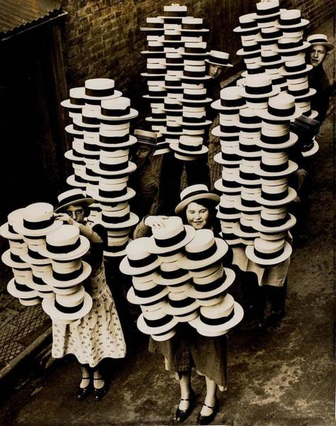 Balance Photograph - A Huge Amount Of Boater Straw Hats Are by Popperfoto