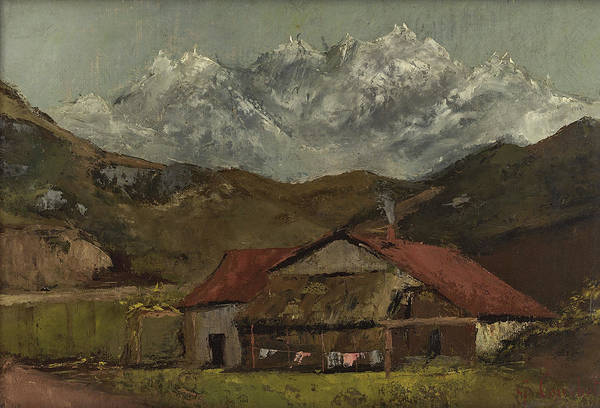 Wall Art - Painting - A Hut In The Mountains, 1870s by Gustave Courbet