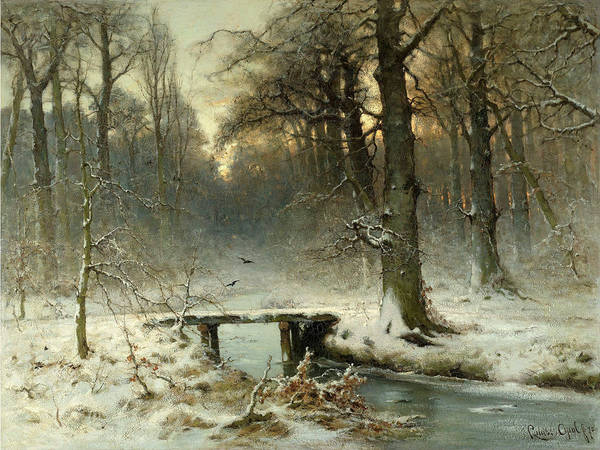 Wall Art - Painting - A January Evening In The Woods Of The Hague, 1875 by Louis Apol