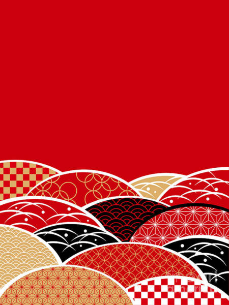 A Japanese Style Background Of Japan Art Print by Rie Sakae