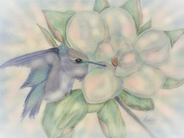 Digital Art - A Jewel In The Magnolia by Angela Davies
