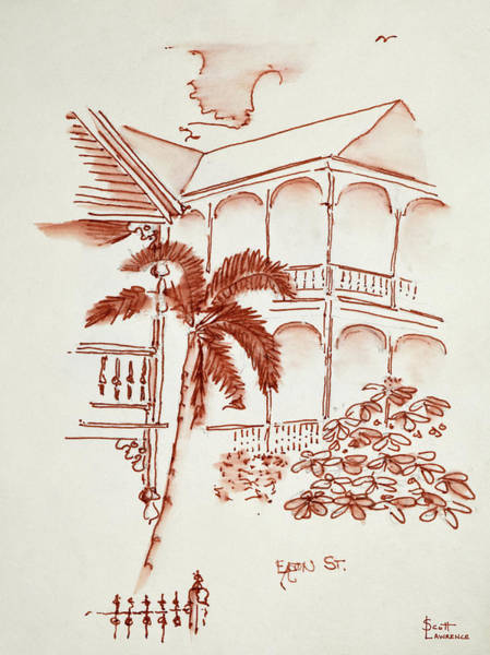 Conch Photograph - A Key West Victorian 'conch' House by Richard Lawrence