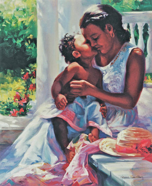 Wall Art - Painting - A Kiss For Mother by Laurie Snow Hein