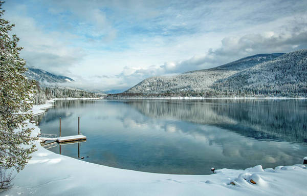 Nelson Bc Photograph - Winter On The Lake by Joy McAdams