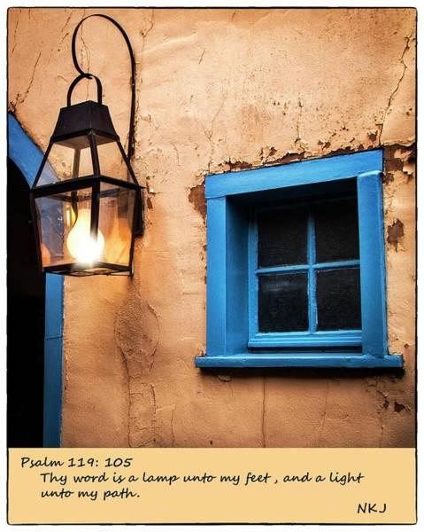 Bible Quotes Photograph - A Lamp Unto My Feet by Harriet Feagin