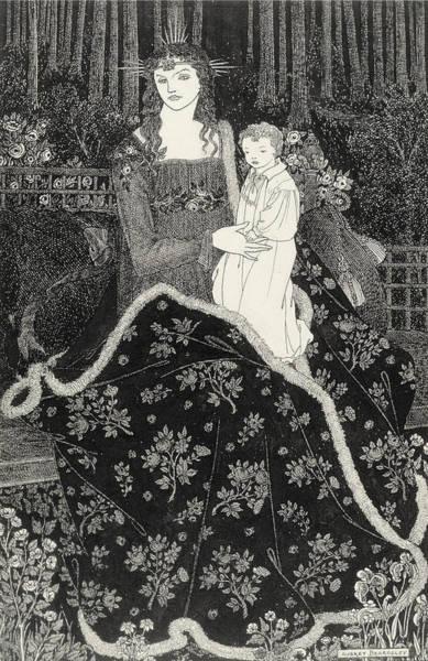 Beardsley Drawing - A Large Christmas Card, 1895 by Aubrey Beardsley