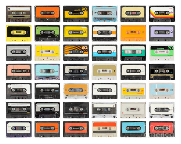 Wall Art - Photograph - A Large Collection Of Retro Cassette by Dubassy