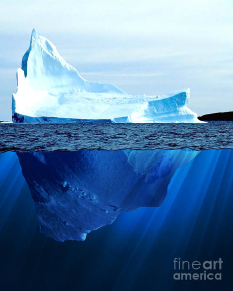 Antarctic Wall Art - Digital Art - A Large Iceberg In The Cold Blue Cold by Sergey Nivens