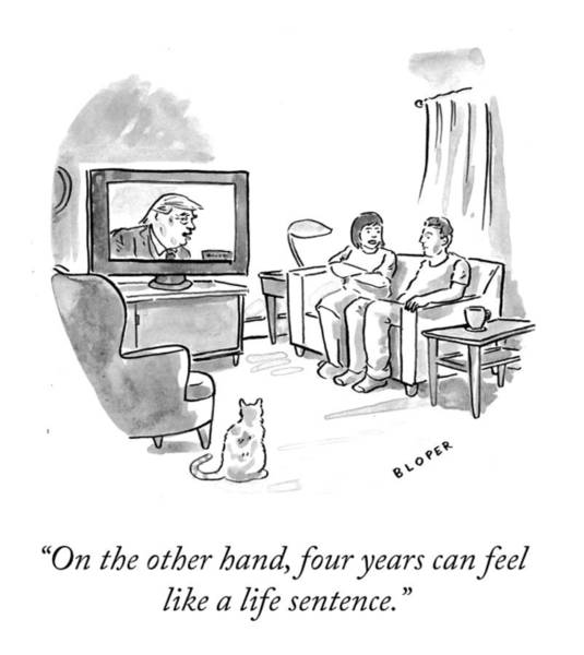 Donald Trump Drawing - A Life Sentence by Brendan Loper