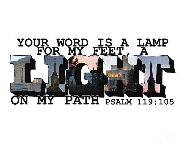 Photograph - A Light On My Path Psalm 119 105 Big Letter by Colleen Cornelius