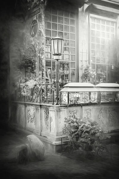 Wall Art - Photograph - A Little Corner Of Mariacka Street Gdansk Poland In Black And Wh by Carol Japp