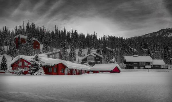 Wall Art - Photograph - A Little Red In Winter by Mountain Dreams