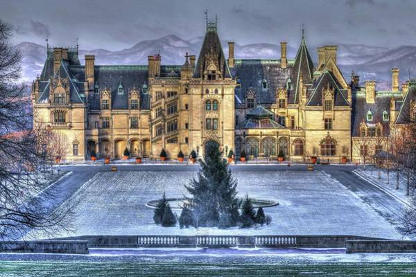 Photograph - A Little Snow For Asheville Christmas by Carol Montoya