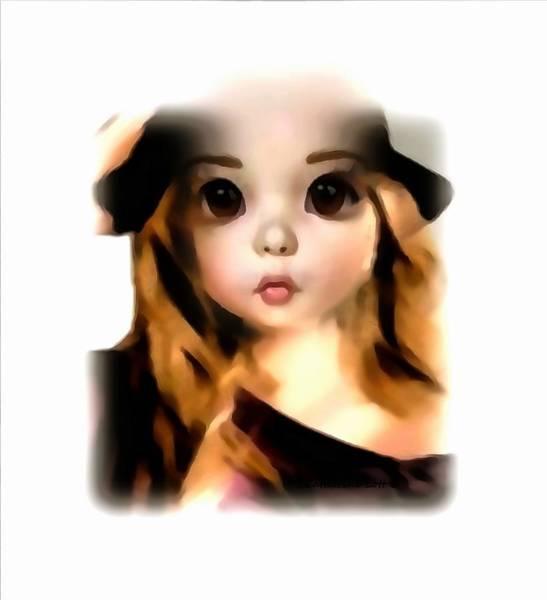 Digital Art - A Living Doll by Catherine Lott