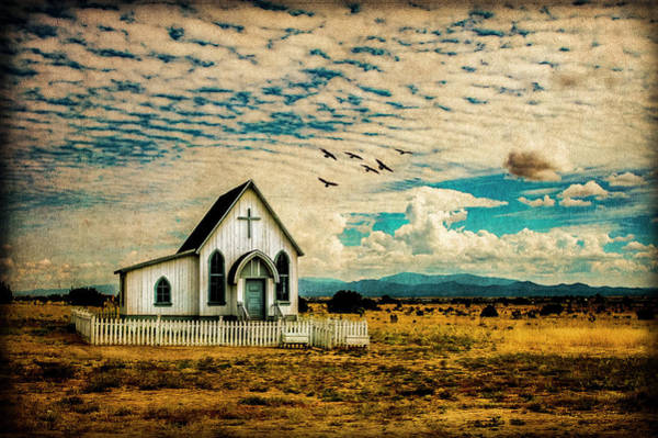 Photograph - A Lone Prairie Church by Lou Novick