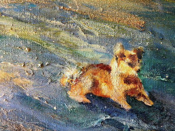 Painting - A Lonely Dog 01 by Miki De Goodaboom