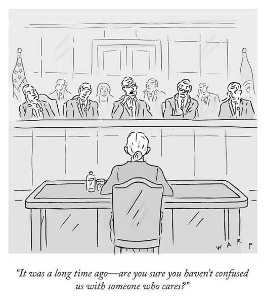 Supreme Court Drawing - A Long Time Ago by Kim Warp