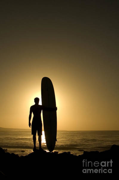 Wall Art - Photograph - A Longboarder Watching He Waves At by Richard Clarke