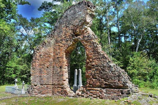 Photograph - A Look Through Pon Pon Chapel Of Ease Jacksonboro South Carolina by Lisa Wooten