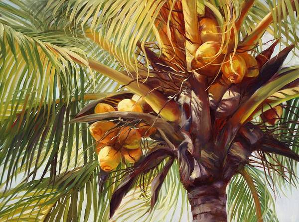 Coconut Painting - A Lotta Nuts by Laurie Snow Hein