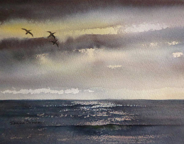 Laguna Beach Painting - A Lovely Gray Day by Janice Sobien