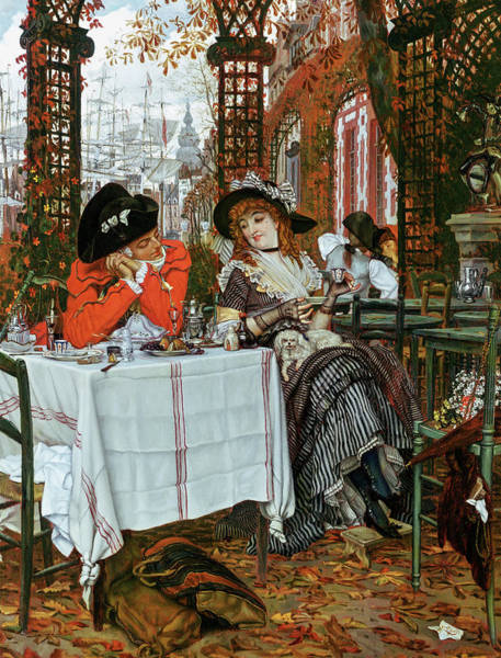 Wall Art - Painting - A Luncheon, 1868 by James Tissot