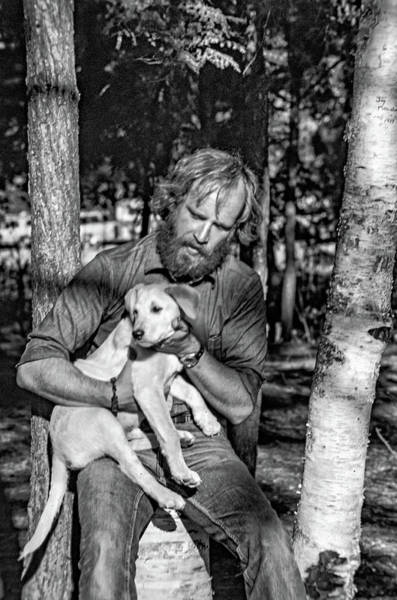 Dog Watch Photograph - A Man And His Dog 2 Bw by Steve Harrington