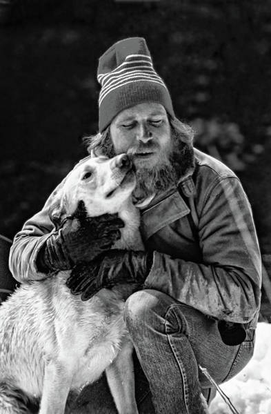 Kodachrome Wall Art - Photograph - A Man And His Dog 3 Bw by Steve Harrington