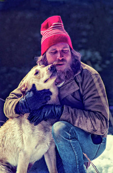Kodachrome Wall Art - Photograph - A Man And His Dog 3 by Steve Harrington