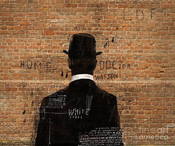 Mystery Digital Art - A Man In A Hat Who Turned His Back On Us by Dmitriip