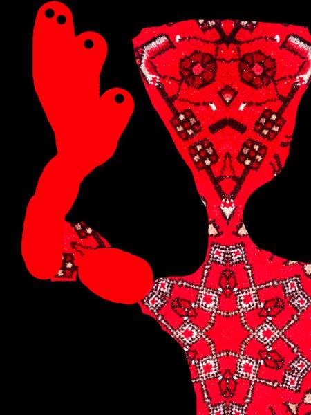 Digital Art - A Man Waving 3 by Artist Dot