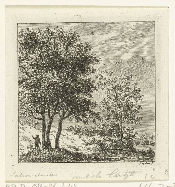 Wall Art - Painting - A Man With A Dog In A Group Of Trees, Ernst Willem Jan Bagelaar, 1798 - 1837 by Ernst Willem Jan Bagelaar