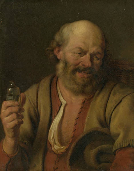 Wall Art - Painting - A Man With A Drink Bottle by Ary de Vois