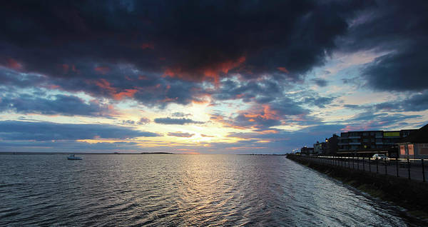 Wall Art - Photograph - A Marine Lake At Sunset, West Kirby, England, Uk by Derrick Neill
