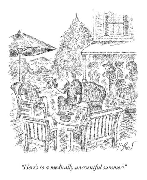 Drawing - A Medically Uneventful Summer by Edward Koren
