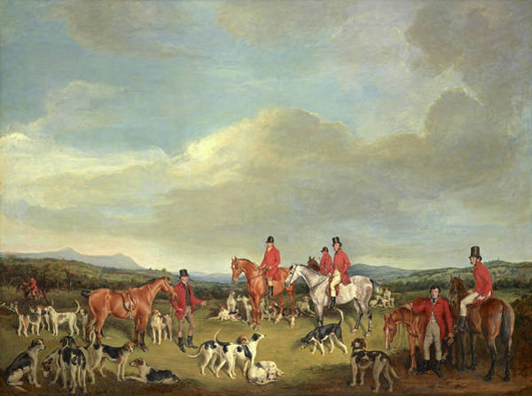 Fife Painting - A Meet Of The Fife Hounds, 1833 by Francis Grant