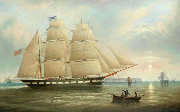 Wall Art - Painting - A Merchant Barque Off The Northeast Coast by John Scott