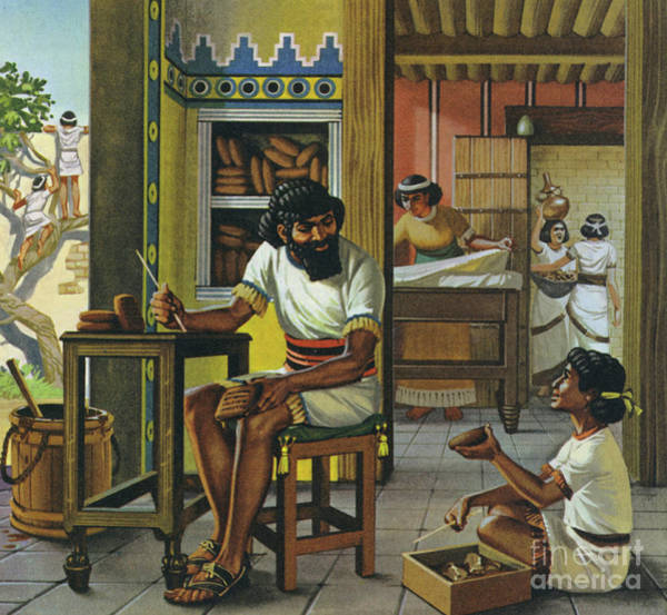 Wall Art - Painting - A Merchant In Babylon by Angus McBride