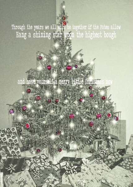 Photograph - A Merry Little Christmas Quote by JAMART Photography