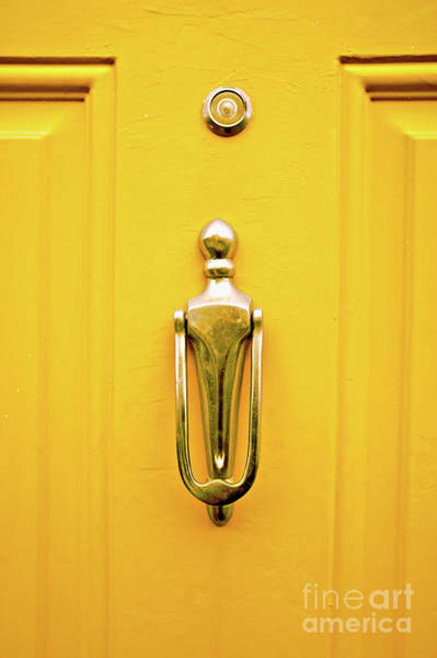 Wall Art - Photograph - A Metal Door Knocker by Tom Gowanlock