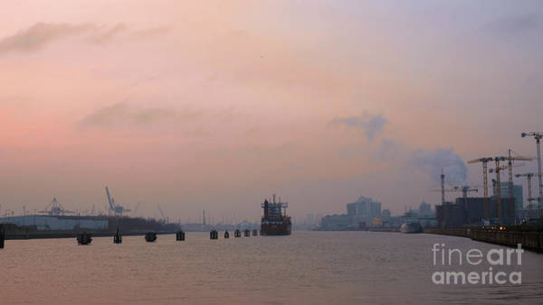 Photograph - A Misty Sunset Over The Elbe by Marina Usmanskaya