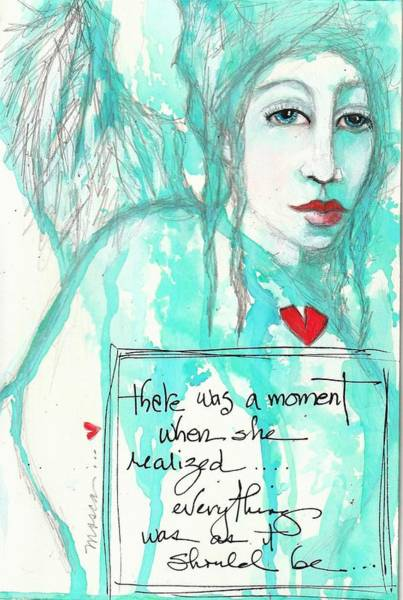 Wall Art - Mixed Media - A Moment by Patricia Mosca