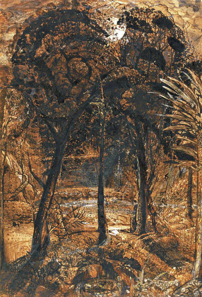 Wall Art - Painting - A Moonlit Scene With A Winding River - Digital Remastered Edition by Samuel Palmer