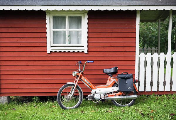 Free Parking Photograph - A Moped Sweden by Johner Royalty-free