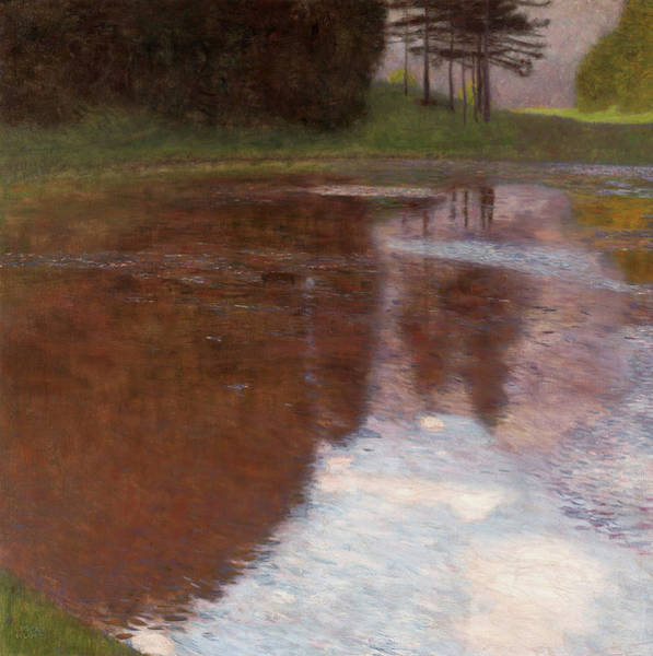 Wall Art - Painting - A Morning By The Pond, 1899 by Gustav Klimt