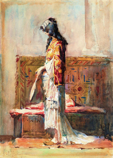Wall Art - Painting - A Moroccan Woman In Traditional Dress - Digital Remastered Edition by Mariano Fortuny