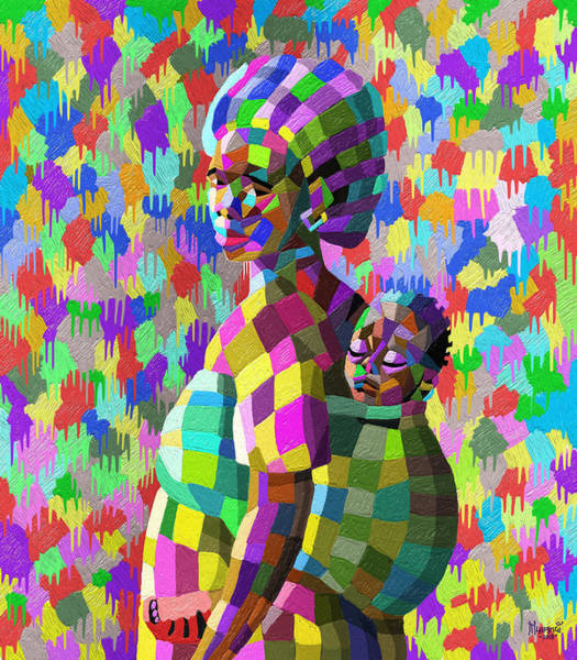 Wall Art - Painting - A Mother's Love by Anthony Mwangi