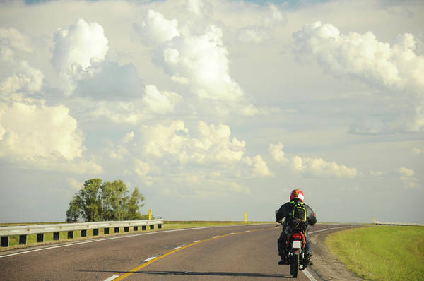 Point Of View Wall Art - Photograph - A Motorcyclist On A Countryside by This Image Is Property Of Picardo